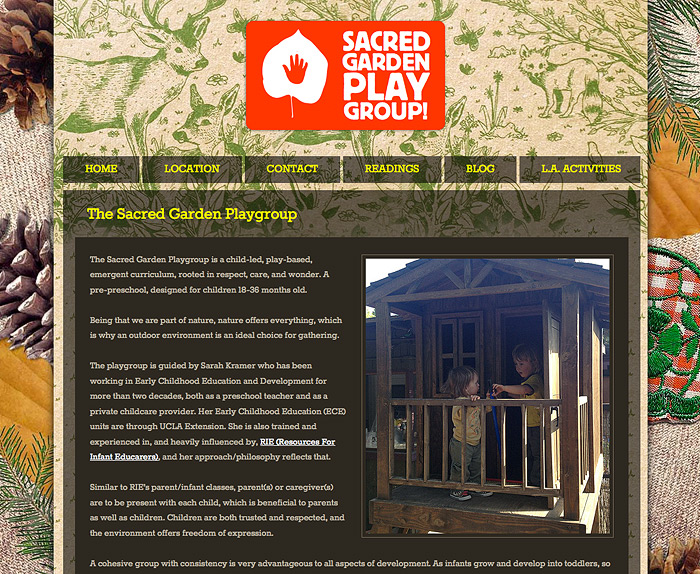 The Sacred Garden Playgroup website.