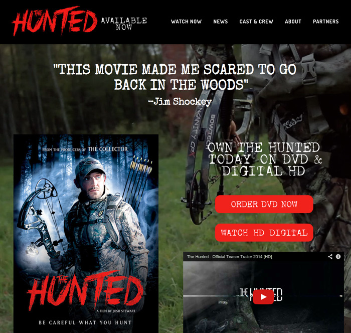 'The Hunted' Movie Website